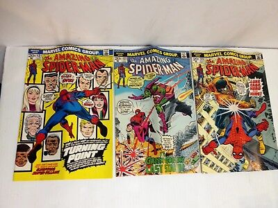 The Amazing Spiderman 3 issues 121, 122, 123 Gwen Stacy Dies Series