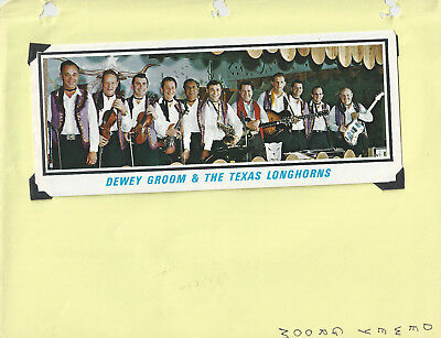 Dewey Groom Texas Longhorns Promo Brochure For Longhorn Ballroom- Grand Ole Opry