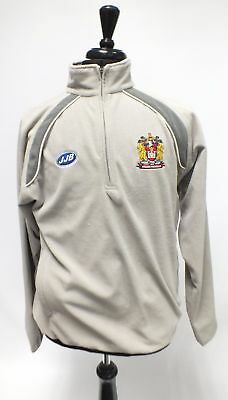 Mens JJB SPORTS WIGAN WARRIORS Grey Long Sleeved Jumper, UK Medium  - W30