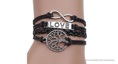 Infinity Love Tree Women's Braided Bracelet US SELLER!!!! lot# 3