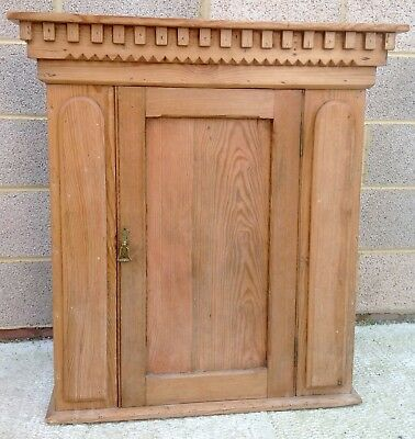 Antique Victorian Pine Cupboard With Shelves Storage
