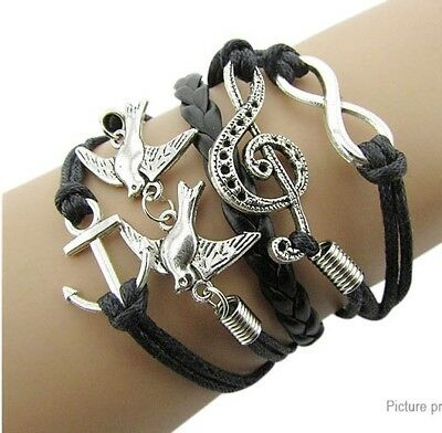 Pigeon Note Anchor Women's Braided BraceletUS SELLER!!!! lot# 12