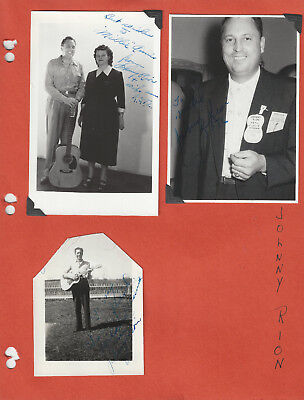 Johnny Rion 4 Photos All Signed + Memorial Insert - Grand Ole Opry