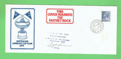 #d335.  1979 Australian Admiral's Cup Signed  Stamped Envelope - Ragamuffin