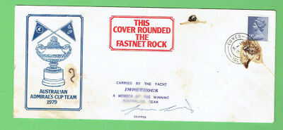#d335.  1979 Australian Admiral's Cup Signed  Stamped Envelope - Impetuous