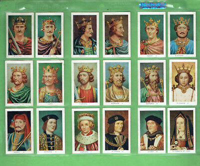 #t46.  1937 Allens Sweets Set Of (49) Kings & Queens Of England Cards