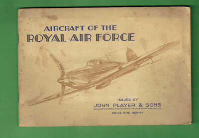 #Gg1.  1938 Set Of (50) Aircraft Royal Air Force  Cigarette Cards