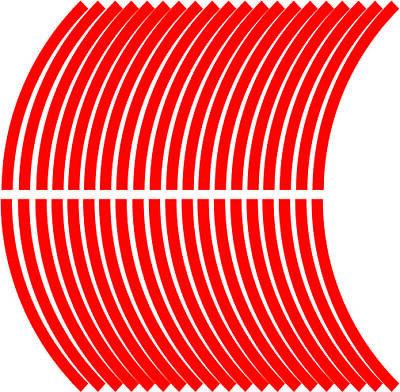 10mm wheel rim tape striping stripes stickers RED..(38 pieces/9 per wheel)