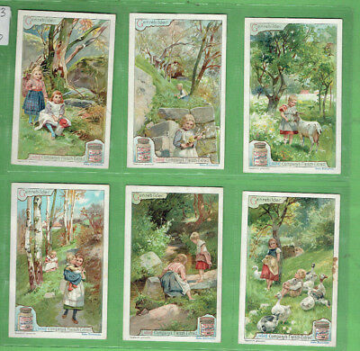 #Bb.  Liebig Company 1900 Six Card Set - Country Children