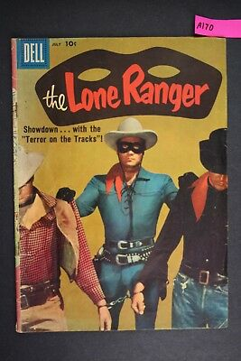 The LONE RANGER #121 Vintage Dell Western Comic Book 1958 A170