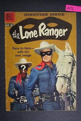 The LONE RANGER #124 Vintage Dell Western Comic Book 1958 A172