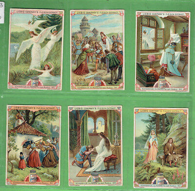 #bb.  Liebig Company 1900 Six Card Set - The Swan Princess