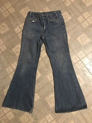 Levis Bell Bottom Jeans Vintage Orange Tab Tag Zipper Fly Button 30 x 32