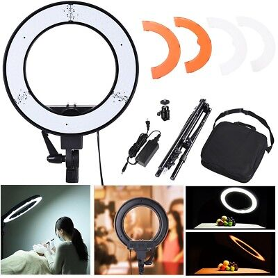 "LED Ring Light Photo Stand Lighting 14"" 35W 5500K Dimmable Studio Video Camera"