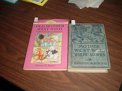 Two Thornton Burgess Books about Old Mother West Wind