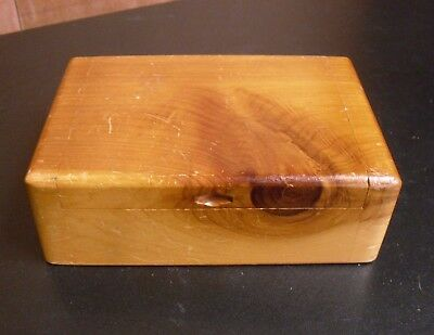 Rustic VINTAGE Pine WOODEN Trinket JEWELLERY Key BOX Keepsake ORAGANISER Box