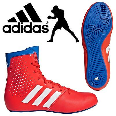 adidas Pro KO Legend 16.2 Kids Boxing Boots Boys Sneakers Red Sports Trainers