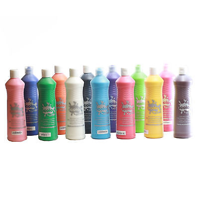Scola Artmix 600ml Bottles, Ready Mixed Colours, Craft, Poster, School Paints