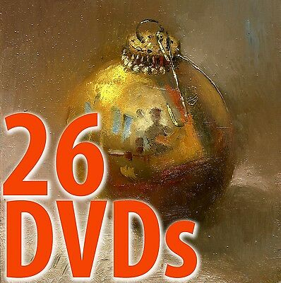 26 DVDs - Learn to Oil Paint, Beginning Lessons, step-by-step  Hall Groat II