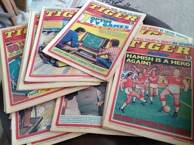 25 Issues Of Tiger And Scorcher Comics From 1978 & 1979 And 3 From 1980