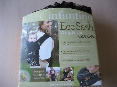 INFANTINO ECO SASH Wrap & Tie Carrier (773554004311) New