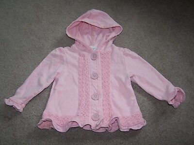 Maggie and Zoe Boutique Girls Size 12 months Hooded Jacket Coat EUC