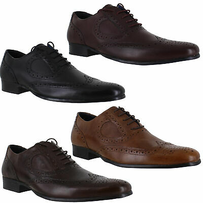 Mens Red Tape Carlow Smart Casual Leather Lace Up Brogues Shoes Sizes 7 to12