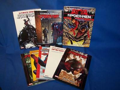 Lot Of 8 Ultimate Spider-Man By Bendis Graphic Novels Tpb Marvel Comics