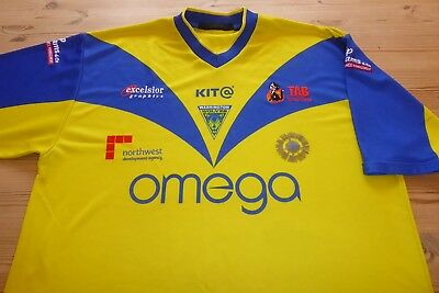 Warrington Wolves Kit Rugby Football League Jersey Shirt Top Large/xlarge