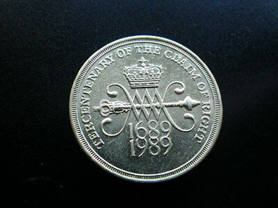 Great Britain 1989 Claim of Rights 2 Pounds (gVF-aEF)