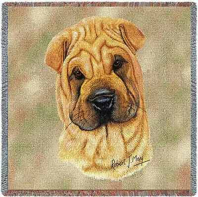 Lap Square Blanket - Shar Pei by Robert May 1173