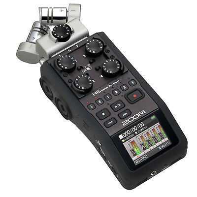 Zoom H6 Portable Handy 6 Track Interchangeable Digital Audio Recorder System