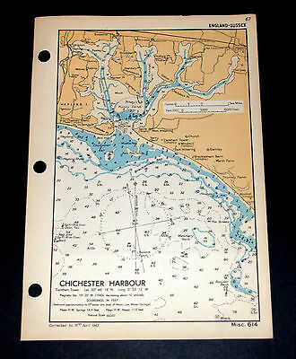 COASTAL DEFENCE of CHICHESTER HARBOUR, HAYLING ISLAND - WW2 Naval Map 1943