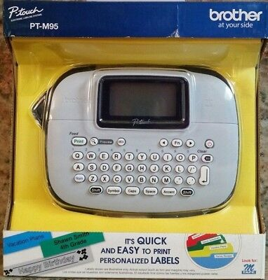 Brother P Touch Electronic Label Making System #pt-M95 New Sealed Free Shipping