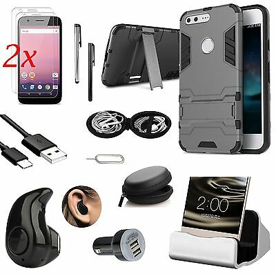 11x Case Cover Charger Mini Bluetooth Earphones Accessory Pack For Google Pixel
