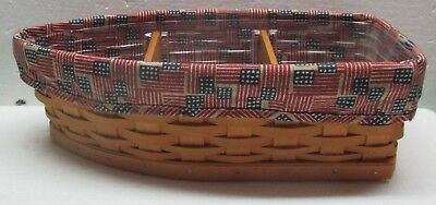 LONGABERGER-Row-Your-Boat-BASKET-All American Liner-Protector-Wood-Dividers