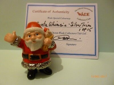 Wade Whimsie Santa Silver Trim New Release Le 15