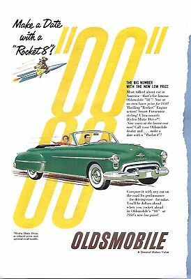 VINTAGE OLDSMOBILE AUTO ADVERTISING ORIGINAL 1951 MAGAZINE PAGE # 91 of MANY