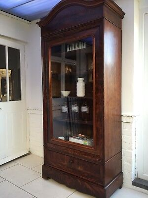 Antique French armoire Linen Press Wardrobe Shelves Curiosity Cabinet