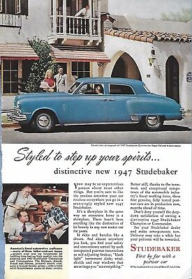 VINTAGE STUDEBAKER AUTO ADVERTISING ORIGINAL 1947 MAGAZINE PAGE # 95 of MANY