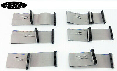 Lot 6: NEW Flat Floppy Drive Ribbon Cable 34 Pin PC FD Disc Computer FDD Disk