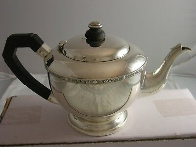 1935 George VI Art Deco SILVER Beautiful Teapot 594 grams G Bryan