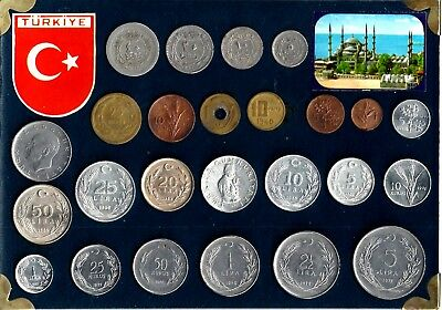 Turkey - Tourist Type Set - 25 Coins- Picture On The Reverse