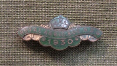 #D326.  1930  RAS ROYAL AGRICULTURAL SOCIETY of NSW  LAPEL   BADGE #A3520