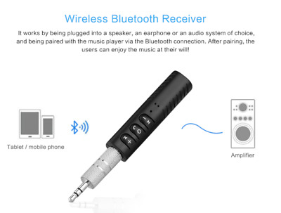 Wireless Bluetooth 4.2 3.5mm AUX Audio Stereo Music Home Car Receiver Adapter