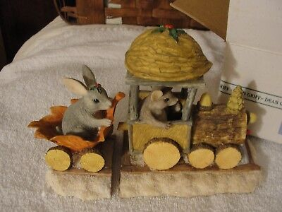 """CHARMING TAILS Dean Griff """"Charming Choo and Passenger"""" Retired in Original Box"""