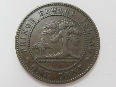 1871 Copper Prince Edward Island One Cent Lightly Circulated Great For Set