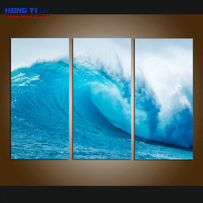 Large Wall Art Set Home Decor Seascape Ocean Waves HD Picture Printed On Canvas