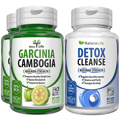 3 X Bottles Pure Garcinia Cambogia HCA 95% Colon Detox Keto Diet Weight Loss