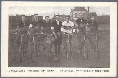 Photo Card Cycle Ball Tolhuis Sp. Gent Champion of Belgium 1926-29